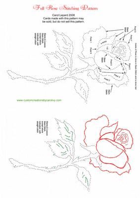 Full Rose Stitching Pattern on Craftsuprint designed by Carol Lepard - Stitching pattern of a Fully Open Rose. Pattern is completely color coded for easier stitching. Original drawing done by me while I was in High School. - Now available for download!