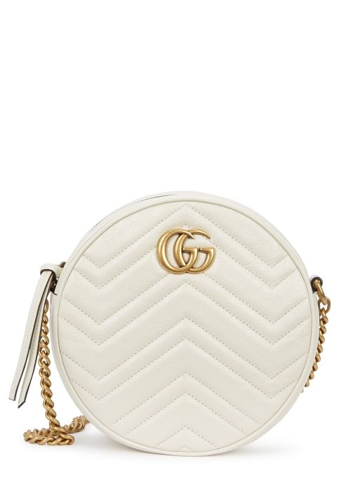 757230a2008 GG Marmont mini round leather crossbody bag in 2019
