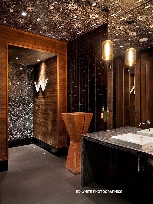 11 best restrooms with style images on pinterest for Bathroom design restaurant