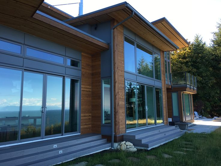 #panorama #bc #Canada #timberframe #timber #wood #house #architecture #interior #contemporarywestcoast #openconcept #hybridtimberframe #prefabricatedhome