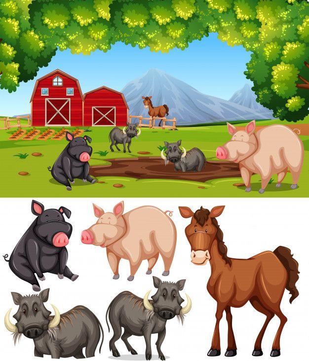 Download Farm Animal At Farmland For Free Farm Animals Animals Cute Animals
