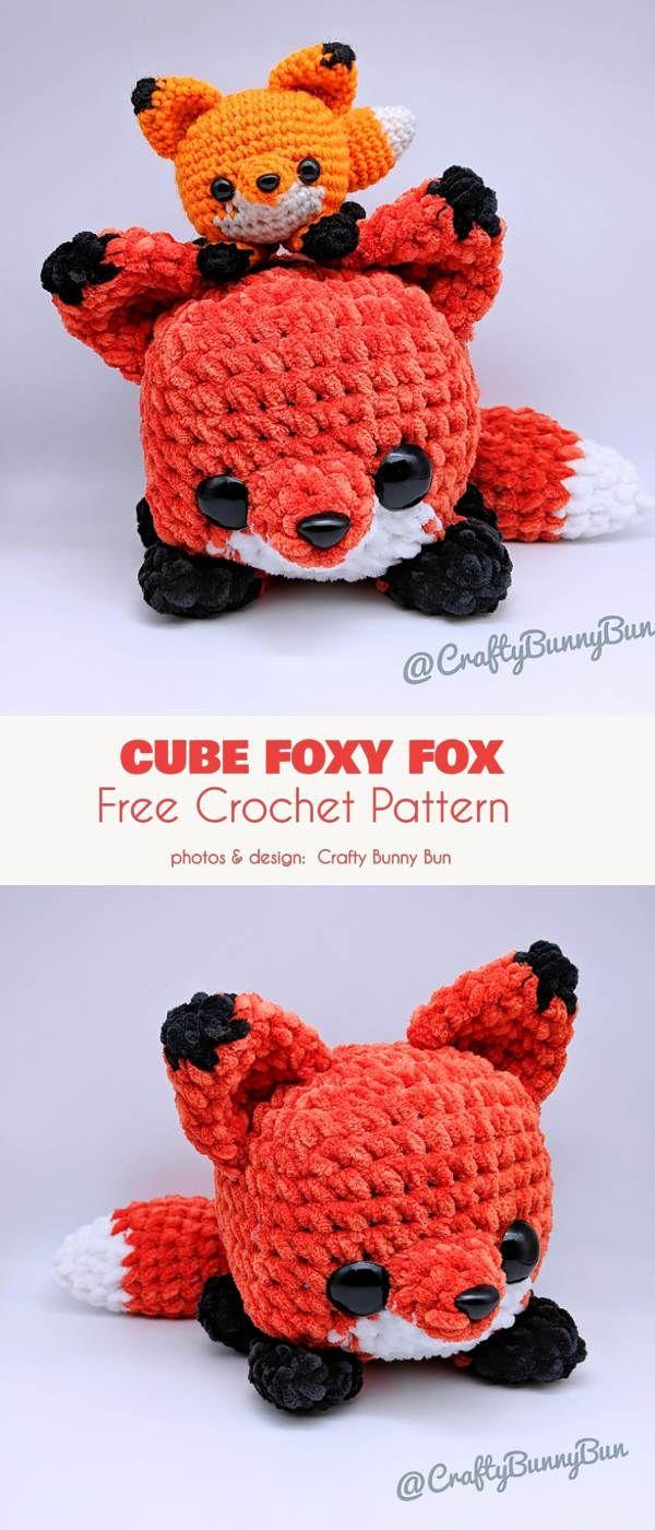 Easy Cube Foxy Fox Gratis Häkelanleitung   – diy