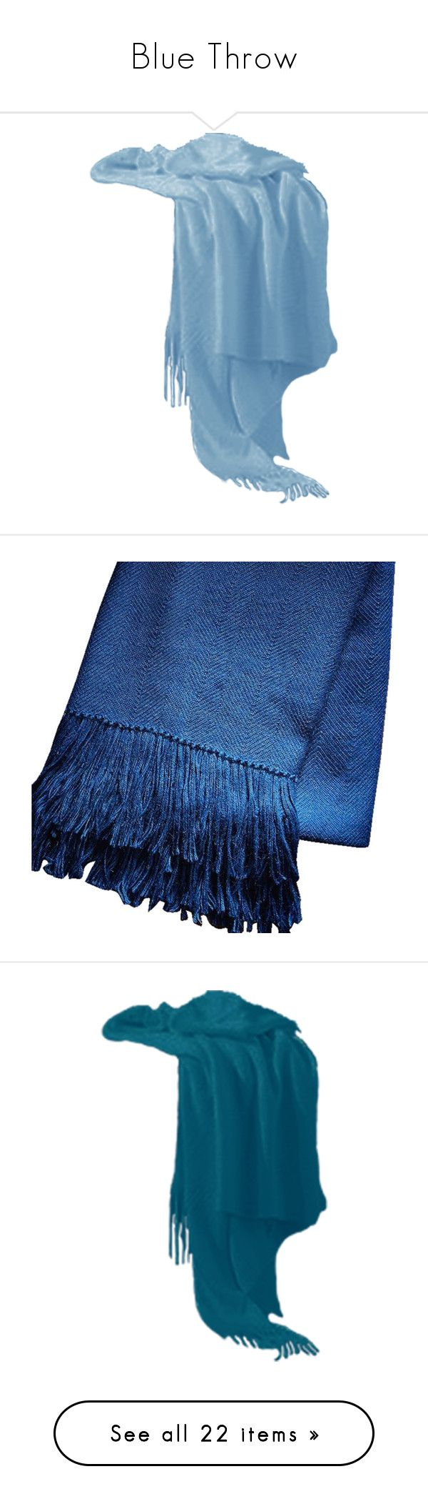 Bright blue bedding -  Blue Throw By Lailoooo Liked On Polyvore Featuring Home Decor Throw