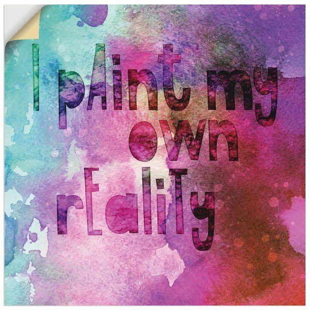 Premium Wandfolie »Andrea Haase: Ich male mir meine eigene Realität«