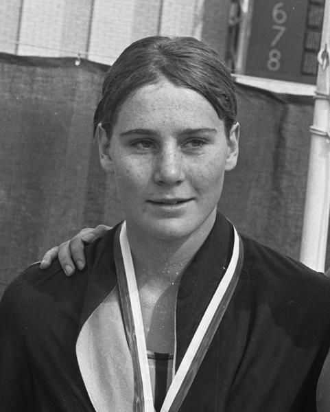 """ASA National Junior Championships, Karen """"Tepid Torpedo"""" Muir would've turned 61 years old today.   Remembered.co.za"""