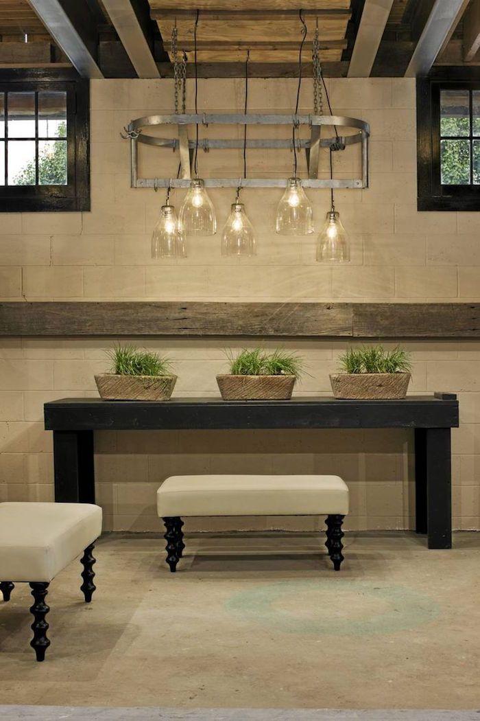 couleur lin pour un int rieur doux et clair sous sols. Black Bedroom Furniture Sets. Home Design Ideas