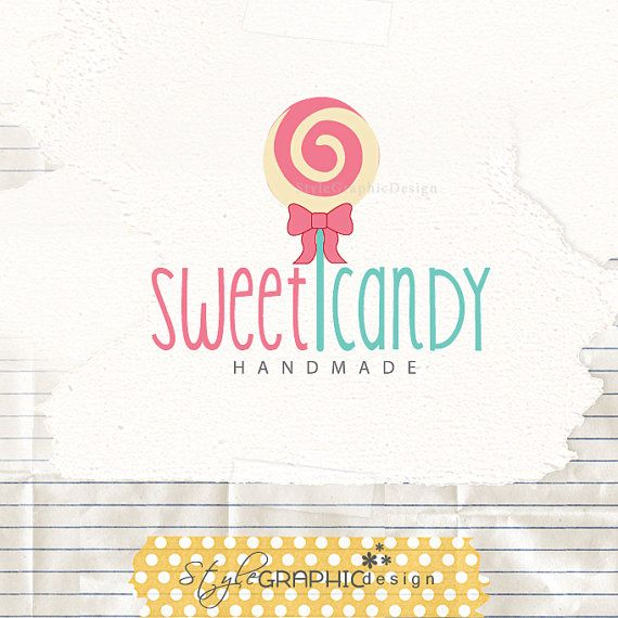 Candy premade logo design  lollipop logo pre by StyleGraphicDesign