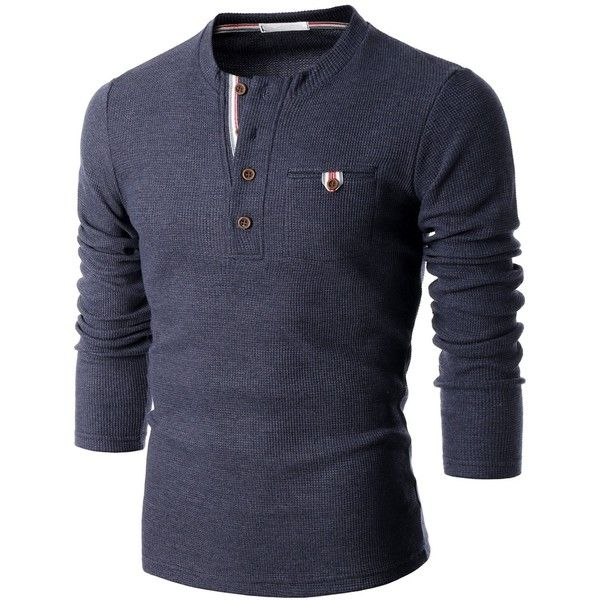 Doublju Mens Long Sleeve Slim Fit Henley Shirts (59 BRL) ❤ liked on Polyvore featuring men's fashion, men's clothing, men's shirts, men's casual shirts, men, mens slim shirts, mens casual long sleeve shirts, mens slim fit long sleeve shirts, mens henley shirts and mens henley long sleeve shirts
