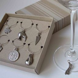 NZ Wine Charms in handmade pewter and smartly boxed.