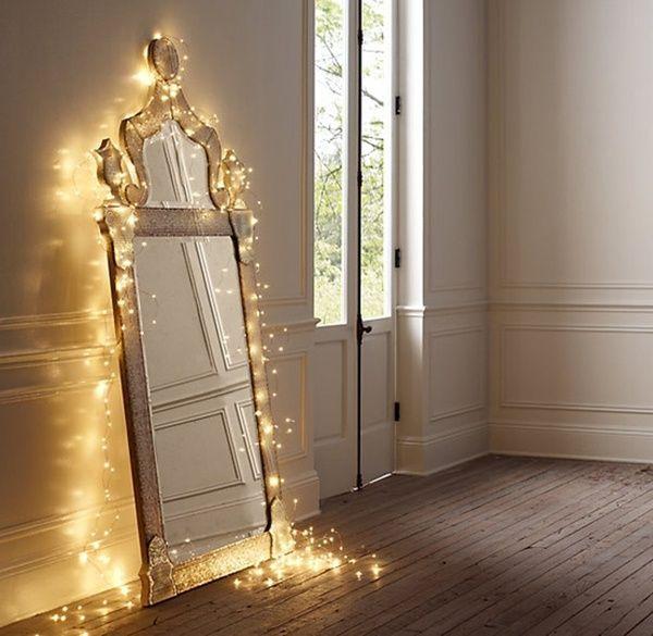 Spiegel met lichtjes