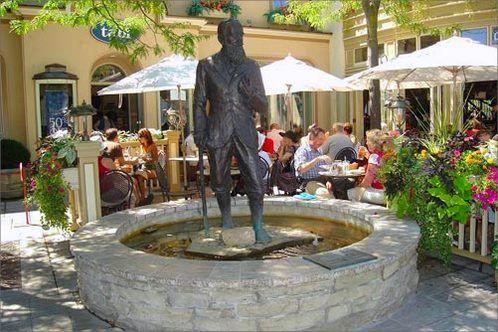 Statue of George Bernard Shaw in Niagara on the Lake: Spa Offer