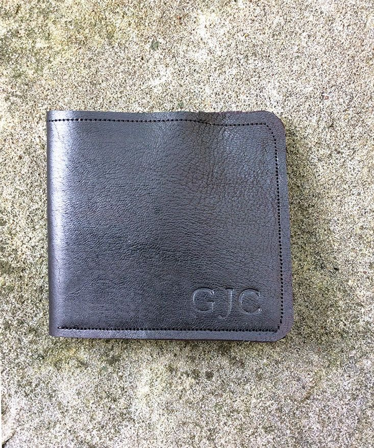 Super soft and cool as a gift for guys this Buckskin Mens Wallet Black Bifold Wallet Custom Personalised Name Embossed Hide Wedding Graduation Groomsmen Guy Gift Monogram Billfold Case by empressionistar on Etsy