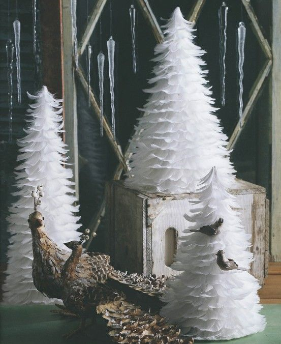 24 best Christmas Feather Trees images on Pinterest | Merry ...