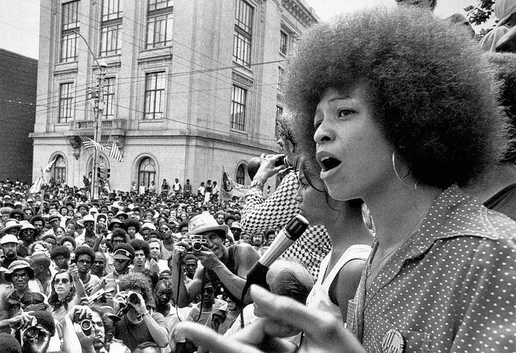 Angela Davis is one of the most well-known female members of the Black Panther Party, having joined for a short period after she noticed the party's sexist practices. Description from forharriet.com. I searched for this on bing.com/images