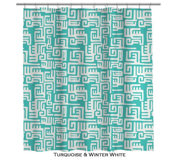Modern Turquoise Shower Curtain (108) .. Definitely a splurge