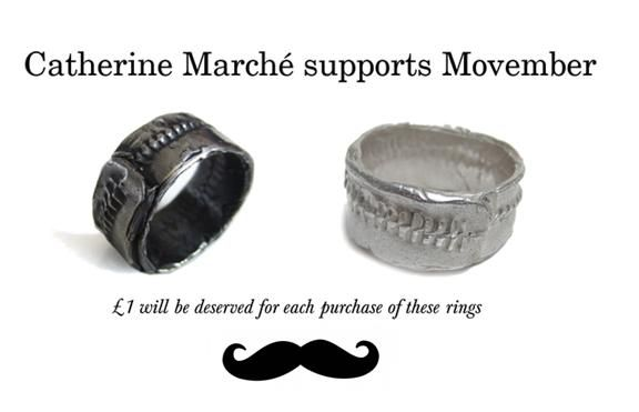 Catherine Marche Supports Movember!  £1 will be donated for each purchase of an HIP ring.