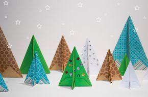How to Make an Origami Christmas Tree #Origami #ChristmasTree