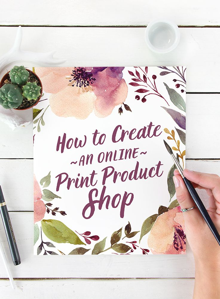 On the Creative Market Blog - How to Create an Online Print Product Shop