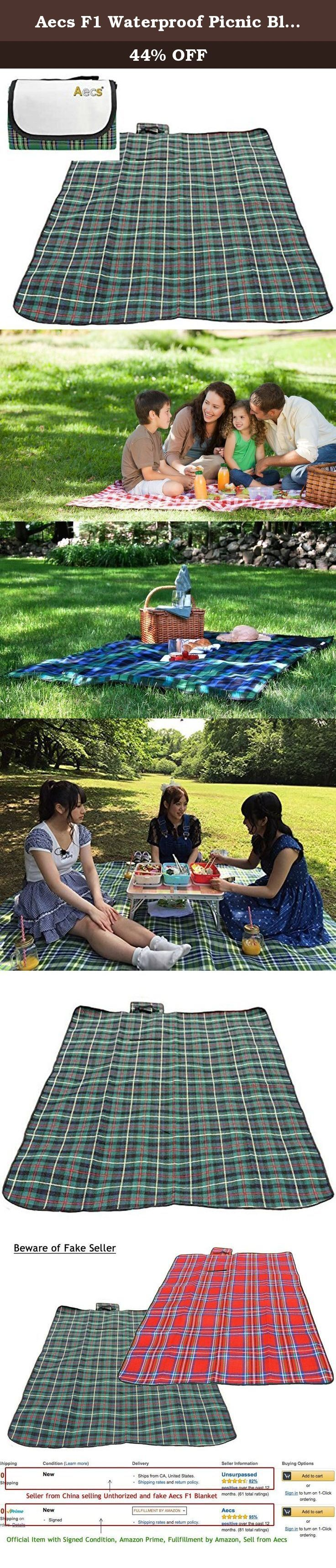 Aecs F1 Waterproof Picnic Blanket Portable Outdoor Mat Blanket for Picnic and Outdoor Camping (Green). This picnic blanket are Completely Waterproof and Sand proof. You do not have to worry about sitting outdoor and get wet with bad mood. It is surely convenient to bring along anywhere, because F1 Outdoor Portable Waterproof Picnic Blanket are flippable into small size down to 8 inch length. You can put in your backpack, store in car rear , etc.