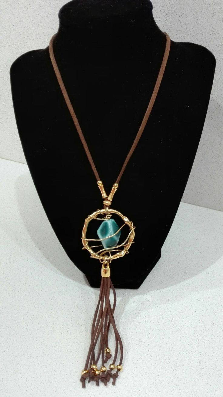 """Leather necklace""""Nicky's handmade creations"""""""