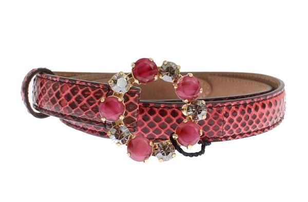 Red Snakeskin Crystal Buckle Belt Dolce & Gabbana €278.00