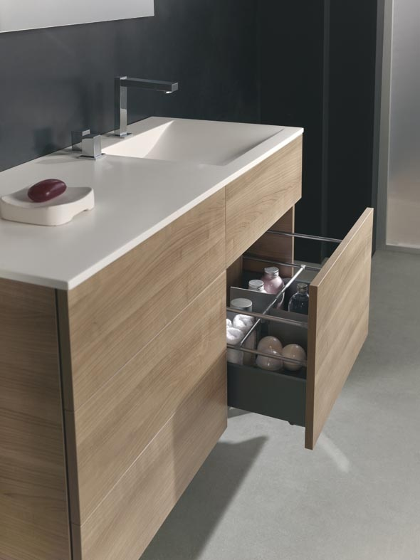 Collection Quadratus bathroom by Royo Group Formato y color ideal de encimera y mueble