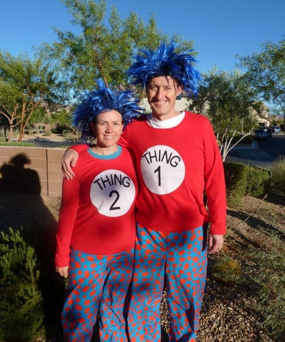 seuss thing 1 and 2 - Thing 1 Thing 2 Halloween Costume