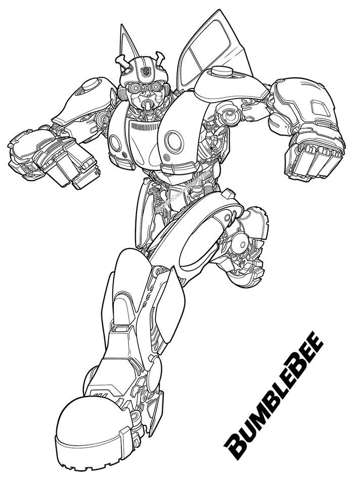 Bumblebee Transformer Coloring Pages Printable In 2020 Transformers Coloring Pages Bee Coloring Pages Coloring Pages For Boys