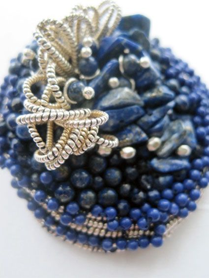 contemporary bead embroidery.