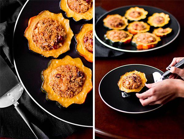 Quinoa-Stuffed Acorn Squash Rings   Recipe   Vegetarian main dishes ...