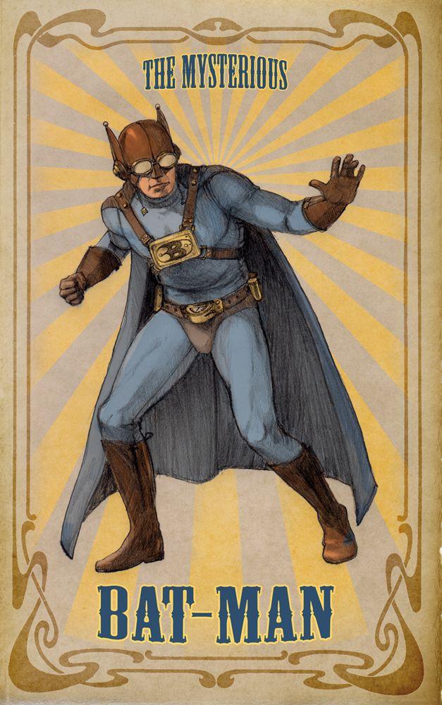 Batman: Retro Styles, Steampunk Batman, Steampunk Stuff, 1905 Batman, Abt 1905, Steampunk Styles, Dark Knights, Mysteries Batman, Superhero
