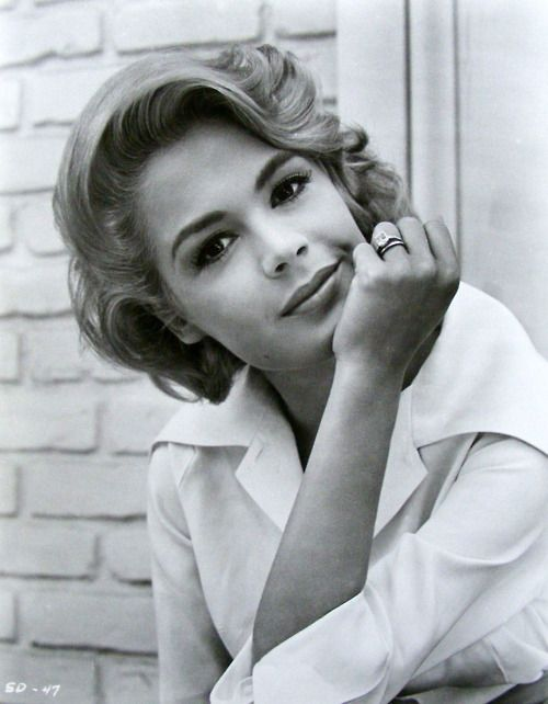 Sandra Dee (April 23, 1942 – February 20, 2005) was an American actress. Dee began her career as a model and progressed to film. Best known for her portrayal of ingenues, Dee won a Golden Globe Award in 1959 as one of the year's most promising newcomers, and over several years her films were popular. By the late 1960s her career had started to decline, and a highly publicized marriage to Bobby Darin ended in divorce.