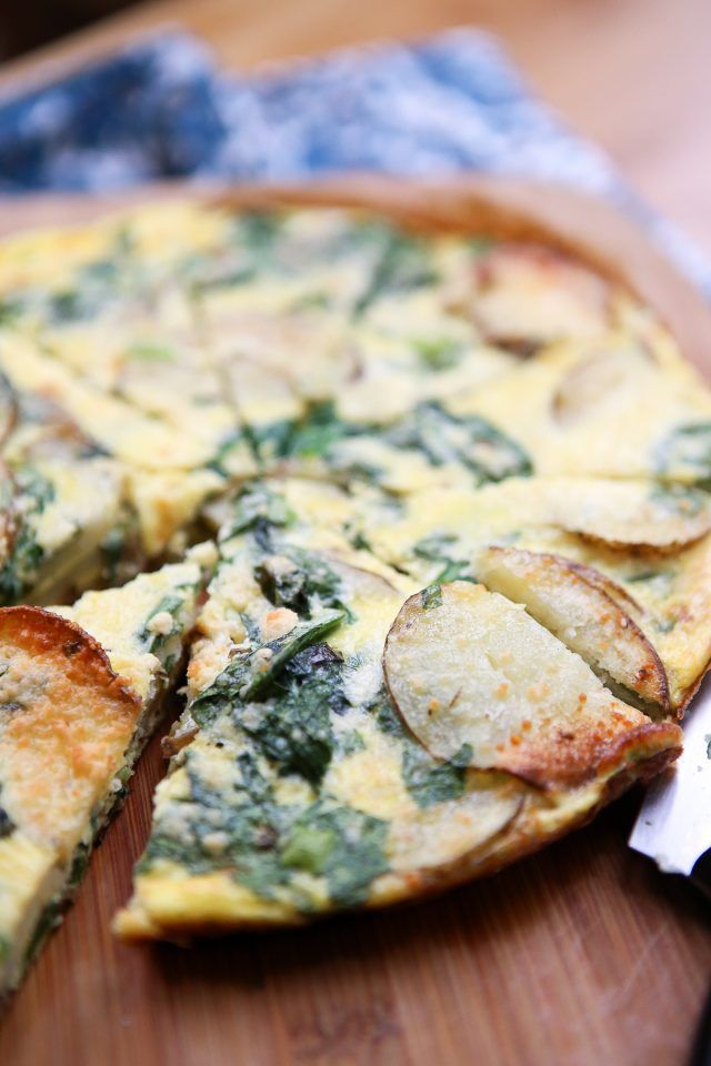 Spinach and Potato Frittata - a few simple ingredients and you have a delicious…