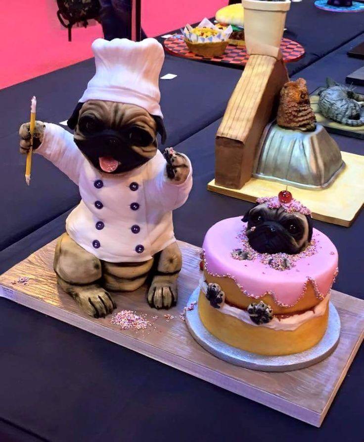 Best 25+ Pug cake ideas on Pinterest Pug birthday cake ...