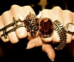 hard: Shiny Things, Skull, Nails Rings, Fashion Gold Hands Nails R, Chunky Jewelry, Water Color, Style Pinboard, Stones, Accesories
