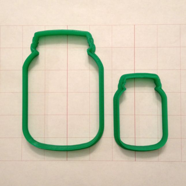 mason jar cookie cutter | Large Jar Cookie Cutter ($7): Take your mason jar obsession to a ...