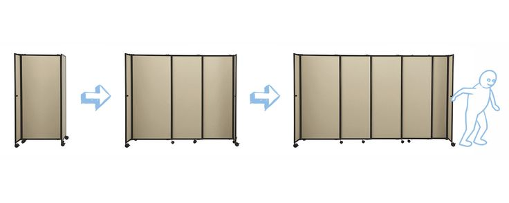 One of our most popular room partitions, the StraightWall uses telescoping panels to allow space division in a straight line. The sliding partition panels are made of acoustical, fully-tackable fabric, and come in a wide variety of color options. The aircraft aluminum frame is durable and lightweight, and provides maximum portability. Creating a portable wall has never been easier! The StraightWall is one of our most popular portable partitions for dividing space evenly in classrooms…