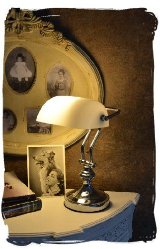 Bankerslamp/Desk lamp/bankers lamp/Banker-lamp/Console lamp, real Classic in Art Nouveau Style with white Glas PALAZZO INT http://www.amazon.co.uk/dp/B00GLSC350/ref=cm_sw_r_pi_dp_8jY3wb0RSEN4G