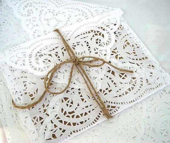 Vintage Doily Paper Lace Envelopes Handmade by AllThingsAngelas, $150.00
