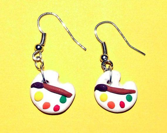 Art Palette Earrings by SplatterPalette on Etsy, $8.00