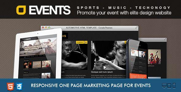 Events Music, Sport, Techno HTML5/CSS3