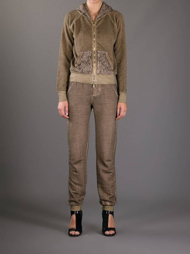Brown cotton jogging bottom style trousers from Sweet Rosee