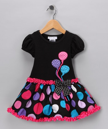 Take a look at this Black & Pink Balloon Dress - Toddler & Girls by Gerson & Gerson and Allison Ann on #zulily today!