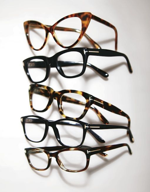 Tom Ford opticals. Glasses I wish I could wear but can't!