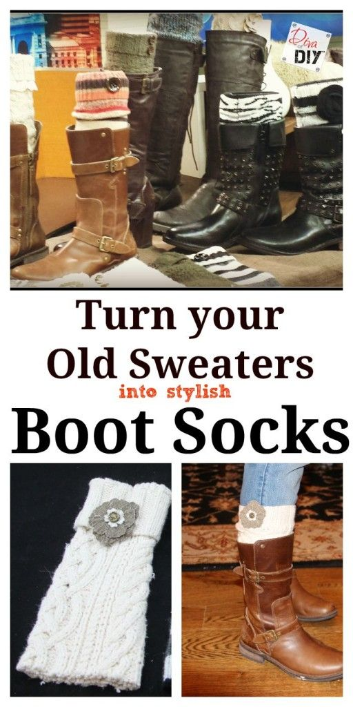 These DIY No Sew Boot Socks are Easy and Inexpensive