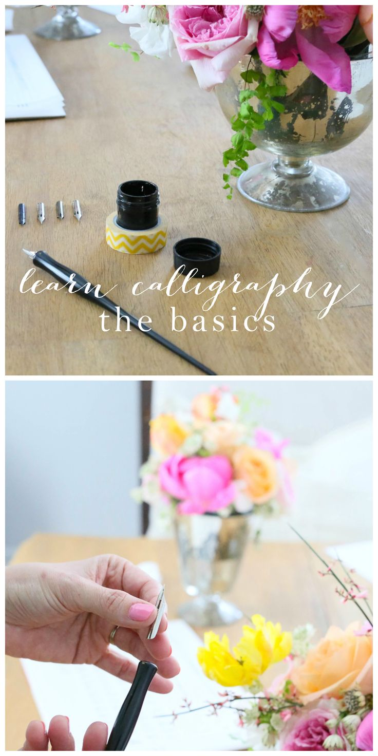 Best 25 How To Learn Calligraphy Ideas On Pinterest