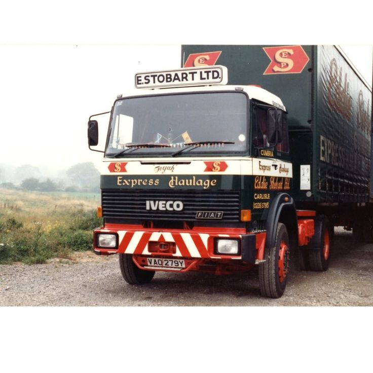 Here we have Toyah - Iveco (VA0 279Y) from 1982 named after the 80's pop star Toyah, Photo provided by G Milne #TBT #ThrowbackThursday #80s #classic #truck #trucking #transport #iveco #fiat #vintage #eddiestobart #stobart #haulage #photography #travel #thursday