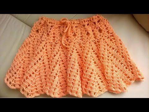 Платье боди крючком юбка часть 2