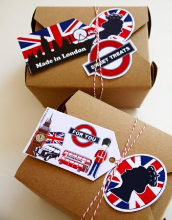 British London Inspired Party Ideas - Cute favor packaging