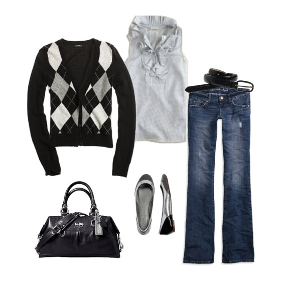 love this.: Argyle Sweaters, Casual Friday, Style, Fashionista, Clothes, Cute Outfits, Fall Outfit, Gray, Fall Winter